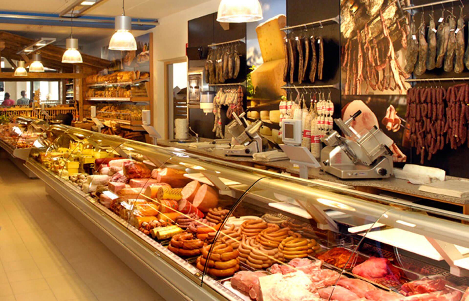 Südtiroler Speck im Konsummarkt Kastelruth